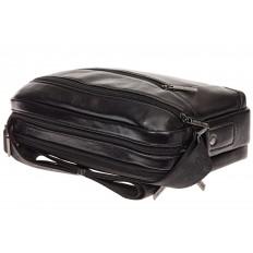 На фото 4 - Черная сумка из натуральной кожи, модель для мужчин