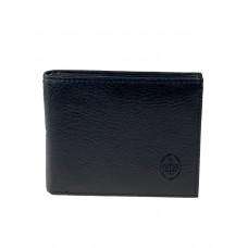 На фото 1 - Мужской чёрный кошелёк из натуральной кожи с зажимом