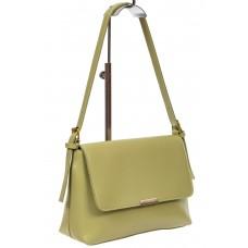 На фото 1 - Женская сумка-мессенджер из мягкой экокожи, цвет оливковый