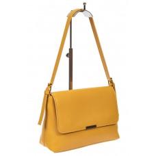 На фото 1 - Женская сумка-мессенджер из мягкой экокожи, цвет жёлтый