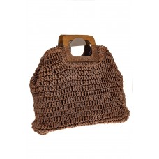 На фото 1 - Плетеная сумка-авоська из джута с деревянны...