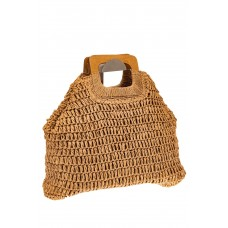 На фото 1 - Плетеная модная сумка-авоська из джута с де...