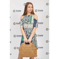 На фото 4 - Плетеная сумка-авоська из джута с деревянными ручками, цвет крафт