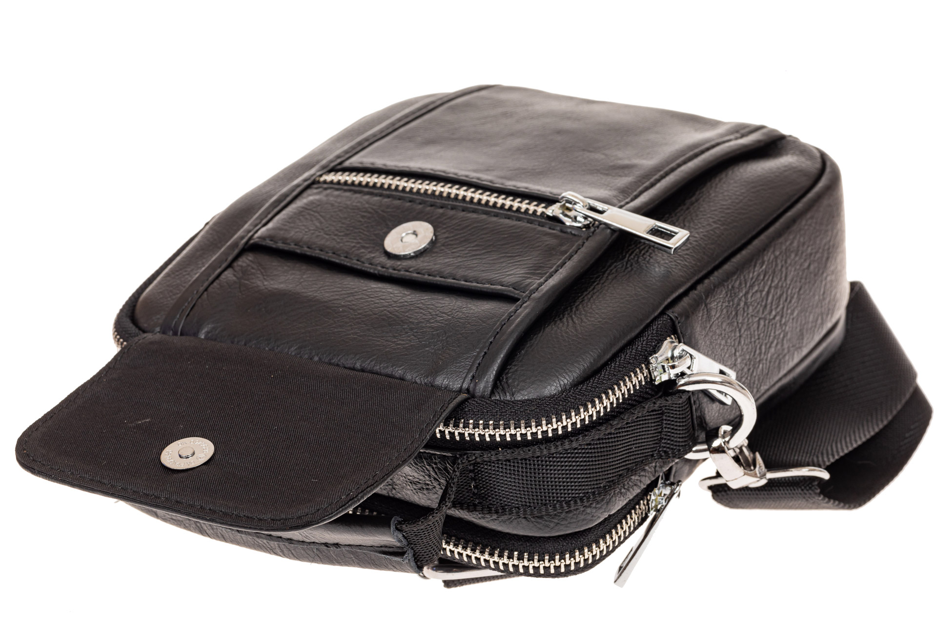 На фото 3 - Мужская сумка для документов, натуральная кожа, цвет черный