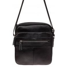 На фото 2 - Мужская сумка планшет через плечо, черная