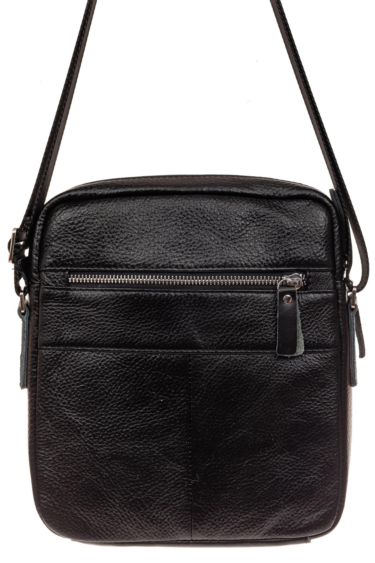 На фото 3 - Мужская сумка планшет через плечо, черная
