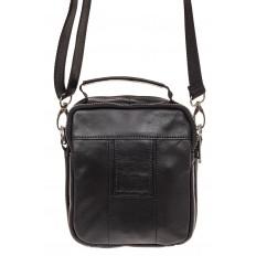 На фото 2 - Мужская сумка для документов, натуральная кожа, цвет черный