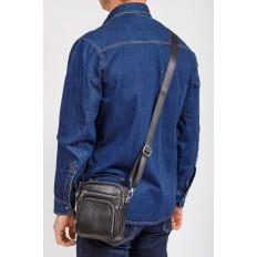 На фото 4 - Мужская сумка для документов, натуральная кожа, цвет черный