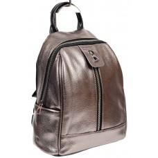 На фото 1 - Рюкзак молодёжный из экокожи, цвет бронзовый с чёрным