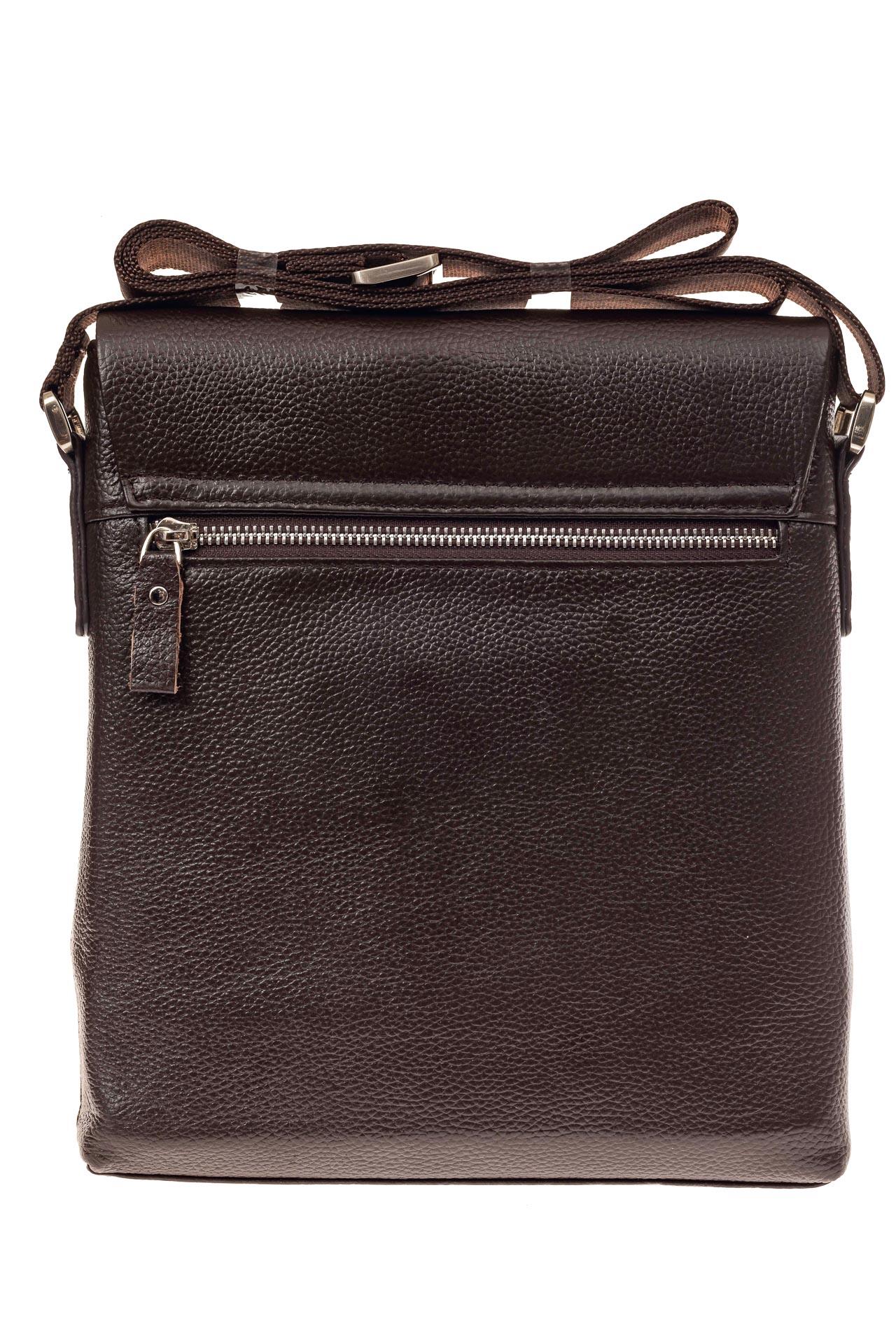 На фото 3 - Мужская сумка из натуральной кожи, цвет коричневый