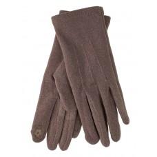 На фото 1 - Перчатки женские из кашемира, цвет коричневый