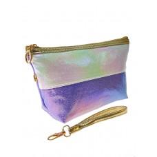 На фото 1 - Двухцветный пенал-косметичка с эффектом