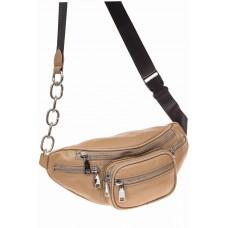 На фото 1 - Женская поясная сумка из натуральной кожи, ...