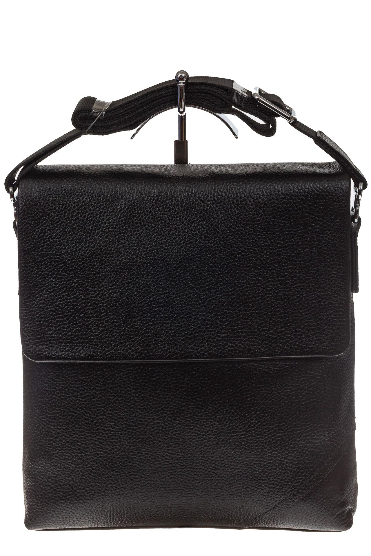 На фото 2 - Мужская сумка мессенджер из натуральной кожи