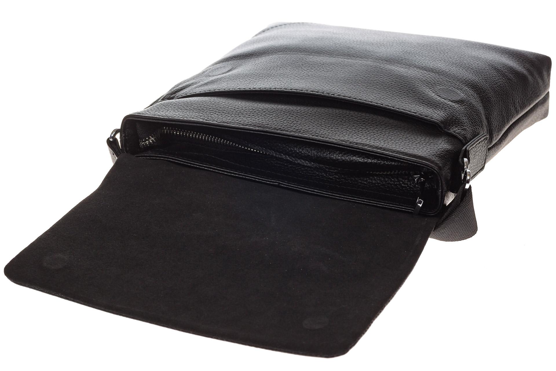 На фото 4 - Мужская сумка мессенджер из натуральной кожи