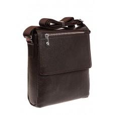 На фото 1 - Мужская сумка из натуральной кожи, цвет кор...