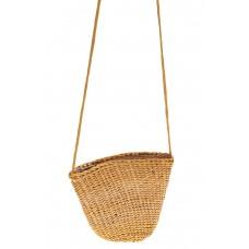 На фото 1 - Женская маленькая сумка на лето из соломки,...