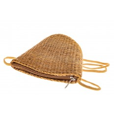 На фото 3 - Женская маленькая сумка на лето из соломки, цвет крафт