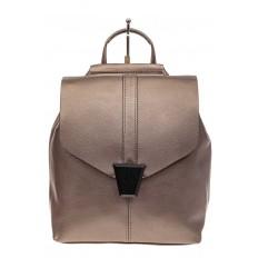 На фото 2 - Женский рюкзак трансформер из натуральной кожи, цвет бежевый