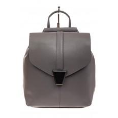 На фото 2 - Женский рюкзак трансформер из натуральной кожи, цвет серый