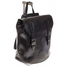 На фото 1 - Женский рюкзак – трансформер из натуральной кожи черного цвета 3005