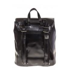 На фото 3 - Женский рюкзак – трансформер из натуральной кожи черного цвета 3005