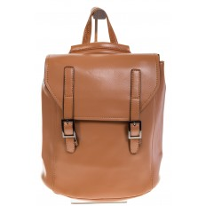 На фото 2 - Женский рюкзак – трансформер из натуральной кожи цвета кофе с молоком 3005