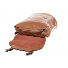 На фото 4 - Женский рюкзак – трансформер из натуральной кожи цвета кофе с молоком 3005