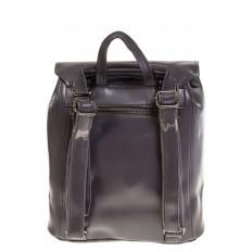 На фото 3 - Женский рюкзак – трансформер из натуральной кожи серого цвета 3005