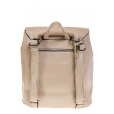 На фото 3 - Женский рюкзак – трансформер из натуральной кожи молочного цвета 3005
