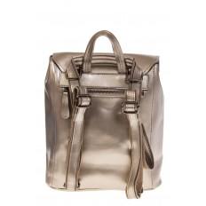 На фото 3 - Женский рюкзак – трансформер из натуральной кожи золотого цвета 3005