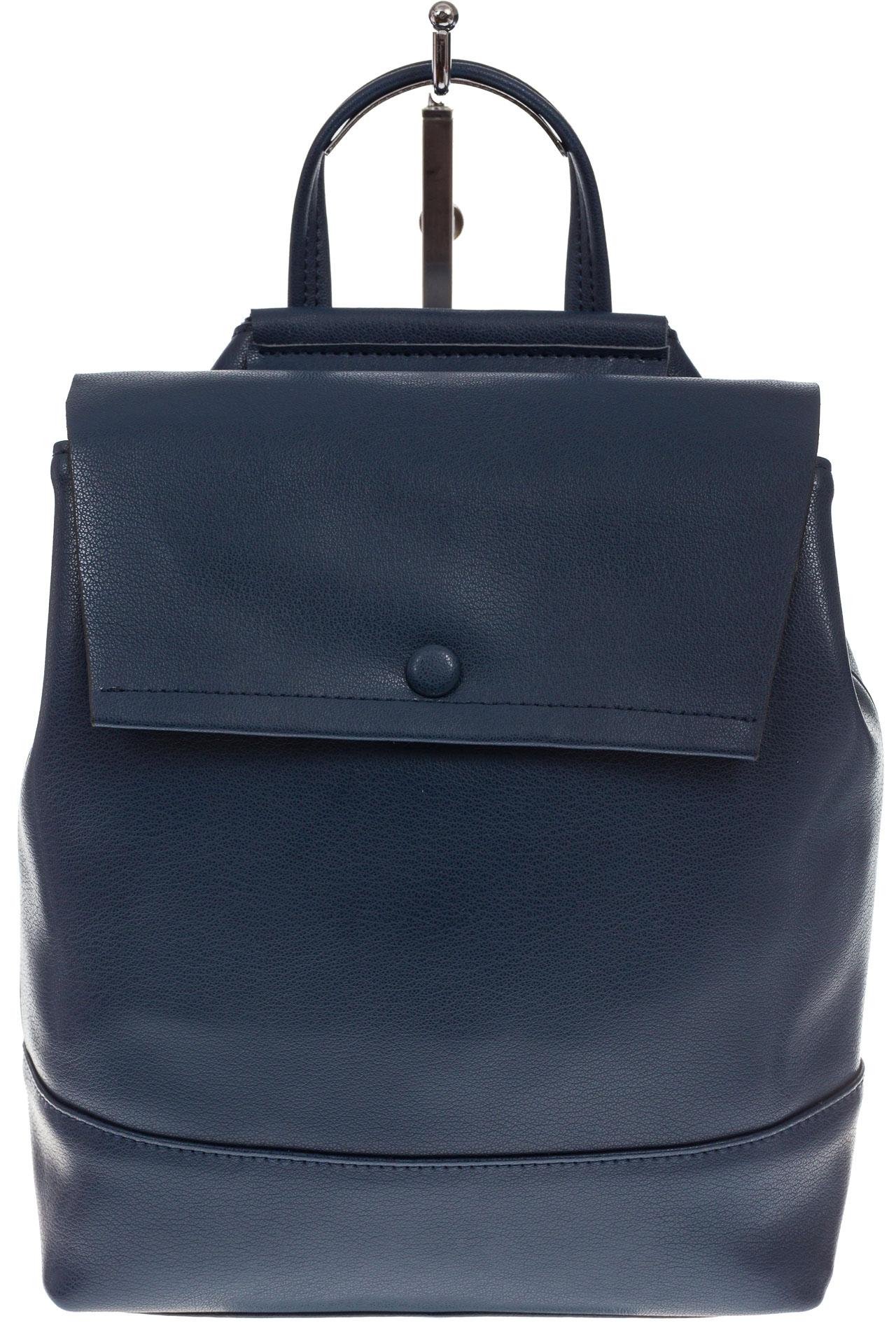 На фото 2 - Синий рюкзак-трансформер из натуральной кожи