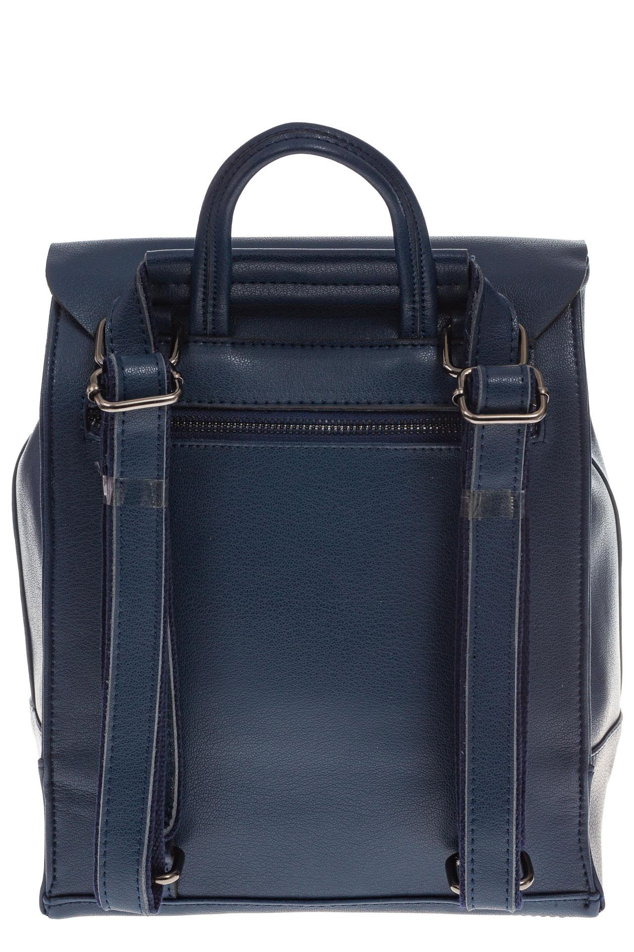 На фото 3 - Синий рюкзак-трансформер из натуральной кожи