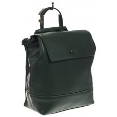 На фото 1 - Зеленый рюкзак-трансформер из натуральной кожи
