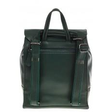 На фото 3 - Зеленый рюкзак-трансформер из натуральной кожи