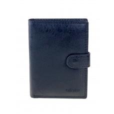 На фото 1 - Мужское универсальное портмоне из экокожи, цвет чёрный