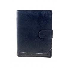 На фото 1 - Универсальное мужское портмоне из искусственной кожи, цвет чёрный