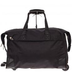 На фото 2 - Дорожная сумка на колесиках, цвет черный