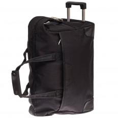 На фото 3 - Дорожная сумка на колесиках, цвет черный