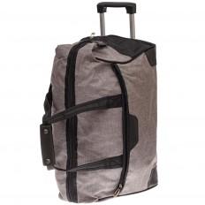 На фото 3 - Дорожная сумка на колесиках, цвет серый
