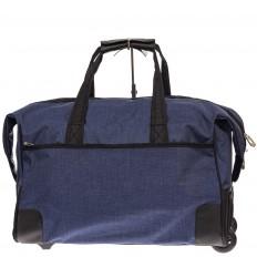 На фото 2 - Дорожная сумка на колесиках, цвет синий