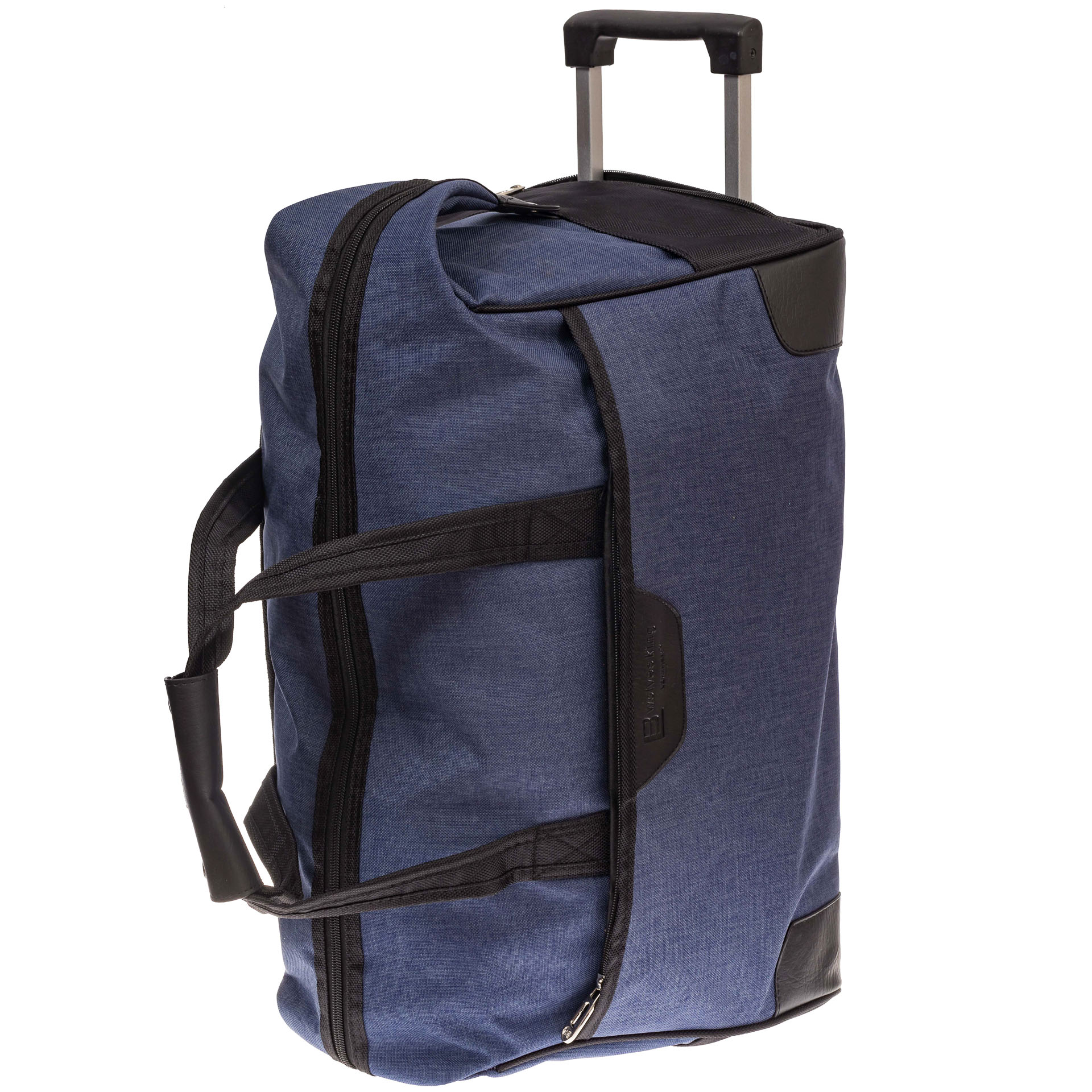На фото 3 - Дорожная сумка на колесиках, цвет синий