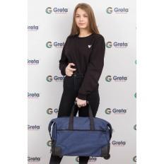 На фото 4 - Дорожная сумка на колесиках, цвет синий