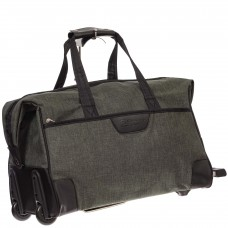 На фото 1 - Дорожная сумка на колесиках, цвет зеленый
