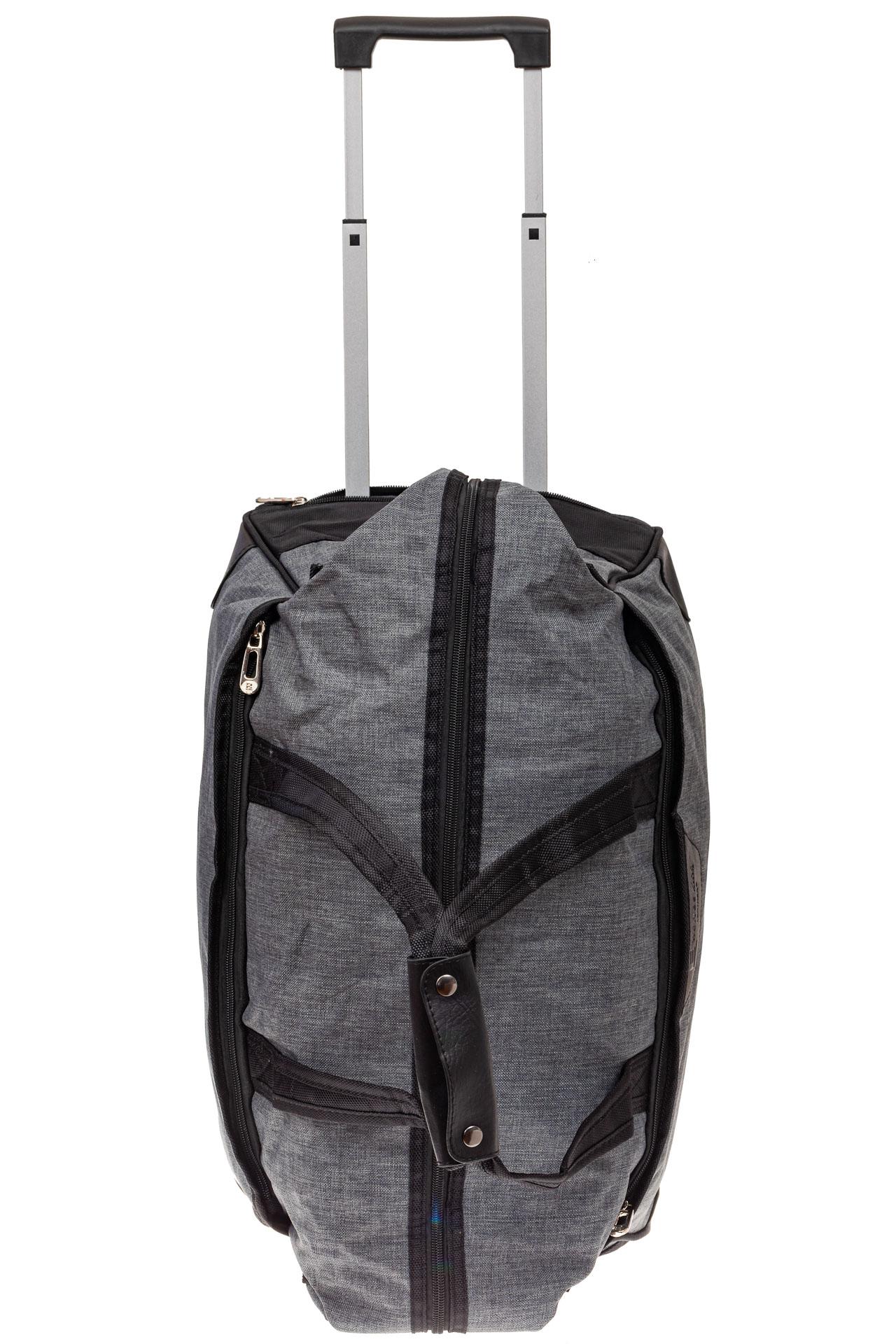На фото 4 - Дорожная сумка на колесиках, цвет серый