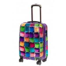 На фото 1 - Небольшой прочный пластиковый чемодан с ярк...