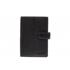 На фото 1 - Мужское портмоне из натуральной кожи, цвет черный