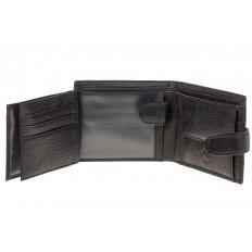 На фото 2 - Черный мужской кошелек из натуральной кожи