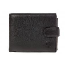 На фото 1 - Черный мужской кошелек из натуральной кожи