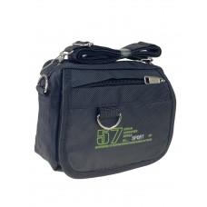 На фото 1 - Спортивная поясная сумка из текстиля, цвет чёрный